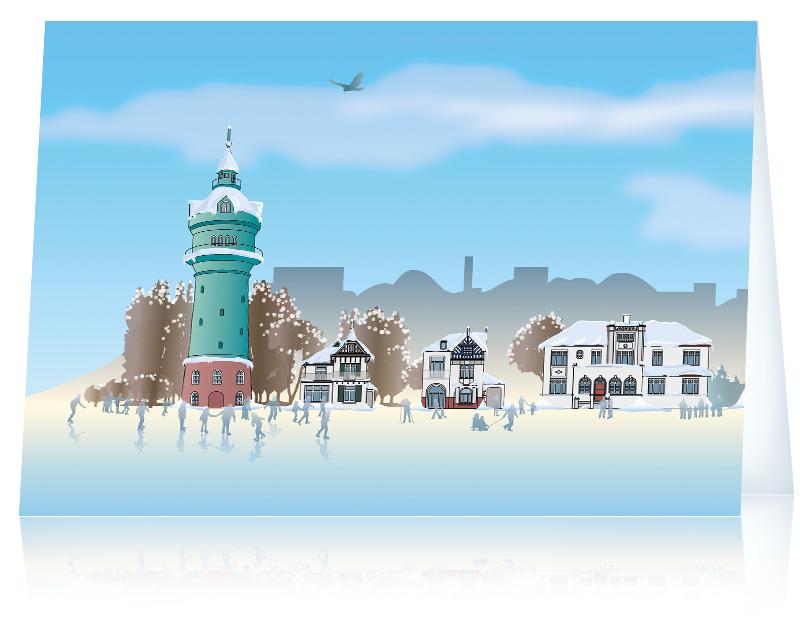 Weihnachtskarte 2015: Lokstedt Winterwunderland