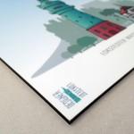 Digitaler Direktdruck auf 4 mm Alu-Dibond, kaschiert mit Schutzlaminat in Samtoptik