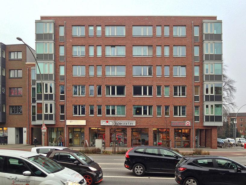 Firmensitz von Rix Hörgeräte in der Vogt-Wells-Straße 4